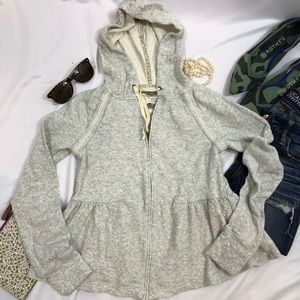 Anthropologie Saturday Sunday Peplum Hoodie A18